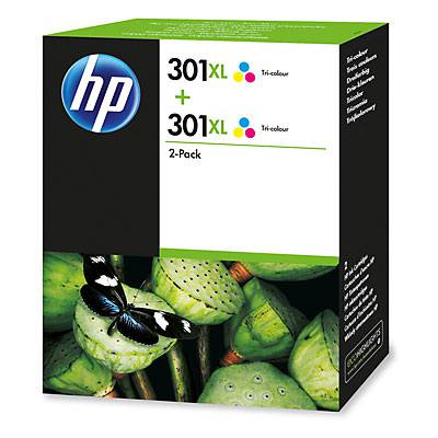 Ver HP 301XL 2 pack Tri color