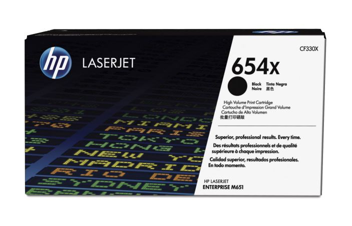 Ver HP 654X High Yield Black Original LaserJet Toner Cartridge