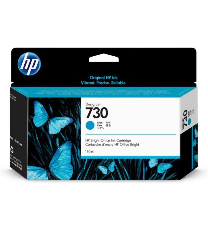 HP 730 130 ml Cyan DesignJet 130ml Cian cartucho de tinta