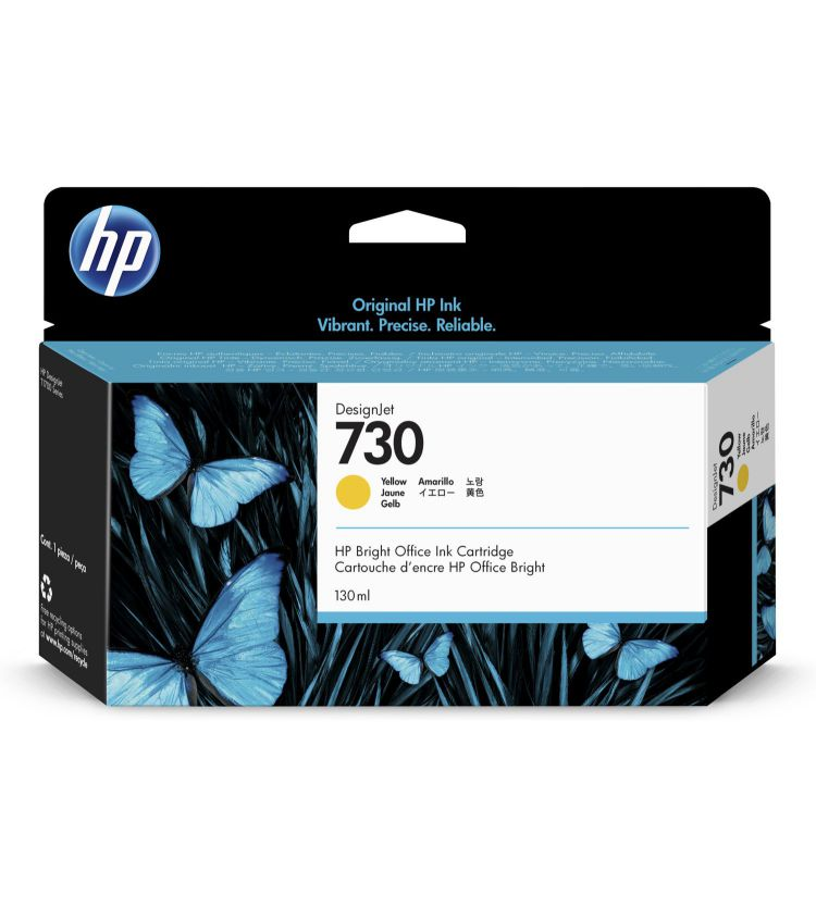 HP 730 130 ml Yellow DesignJet 130ml Amarillo
