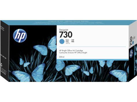 HP 730 300ml Cian cartucho de tinta