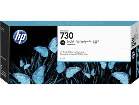 HP 730 300ml Negro cartucho de tinta P2V71A
