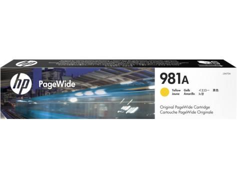 Ver HP 981A Yellow Original PageWide Cartridge Cartucho 6000paginas Amarillo