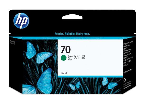 Ver HP Cartucho de tinta DesignJet 70 verde de 130 ml