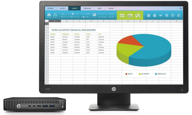 Ver HP EliteDesk 800 35W G2 Mini ProDisplay P203 IWC f