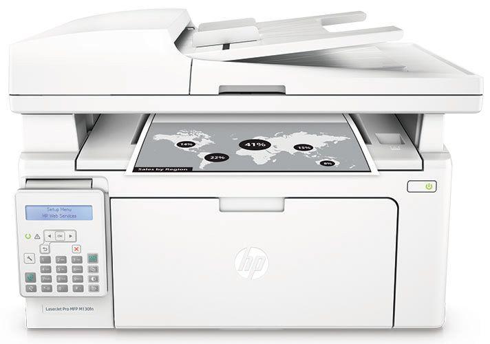 Ver HP LaserJet Pro MFP M130fn blanco
