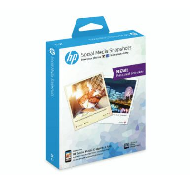 HP Social Media Snapshots Removable Sticky Photo Paper 25 sht