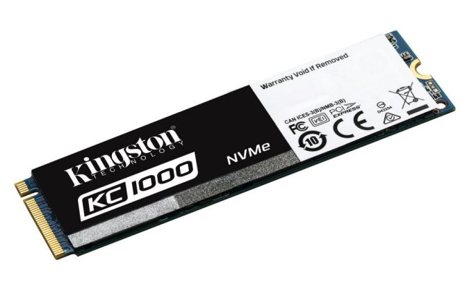 Ver Kingston KC1000 NVMe PCIe SSD 960GB M2 PCI Express 30