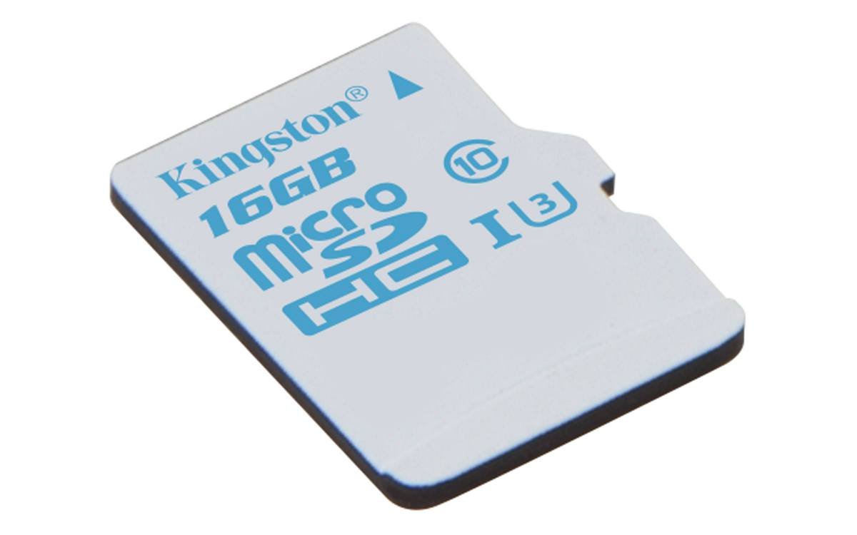 Ver Kingston Technology microSD Action Camera UHS I U3 16GB 16GB MicroSD UHS I Class 3 memoria flash