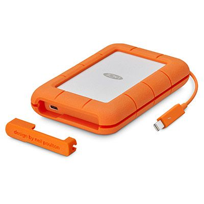 Ver LaCie Rugged Thunderbolt USB C 5000GB Naranja Plata