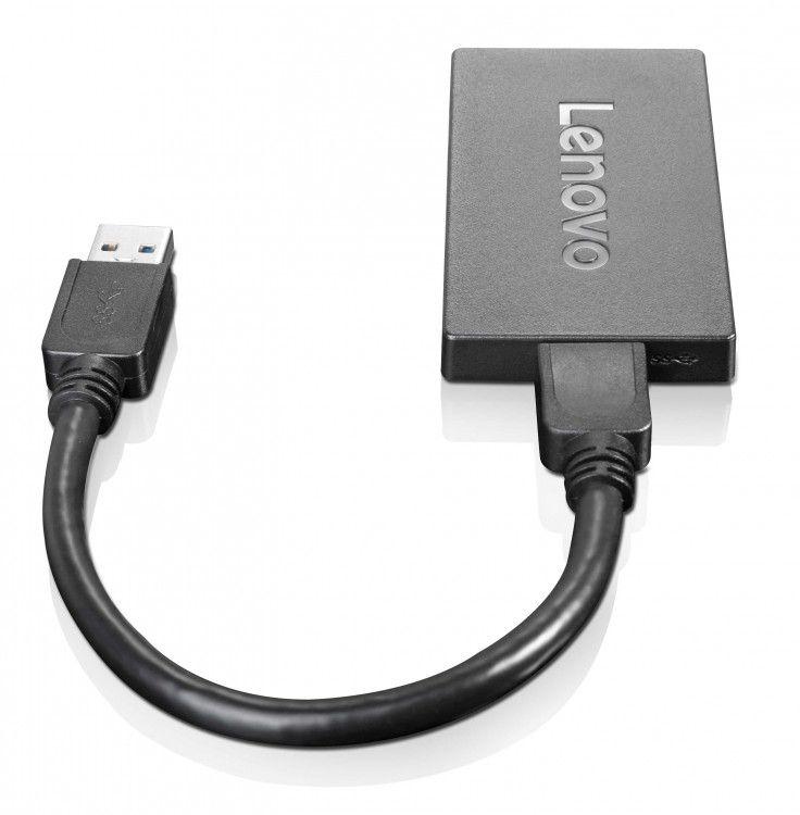 Lenovo 4X90J31021 adaptador de cable USB DisplayPort Negro
