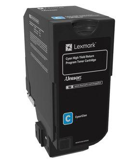 Lexmark 74C2HC0 12000paginas Cian toner y cartucho laser