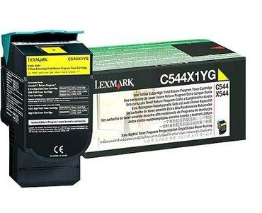 Lexmark C544 X544 Yellow Extra High Yield Return Programme Toner Cartridge 4K Amarillo