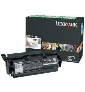 Lexmark X651A11E Laser cartridge 7000paginas Negro