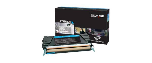 Lexmark X748H2CG toner y cartucho laser