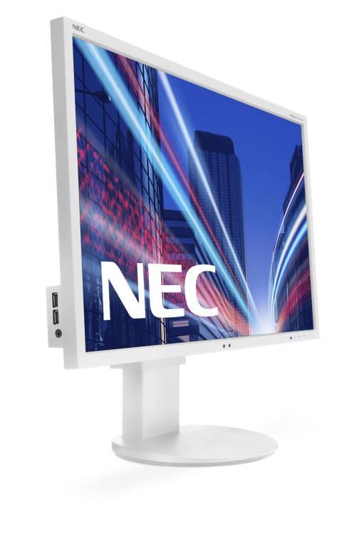Ver NEC MultiSync EA244WMi IPS Color blanco