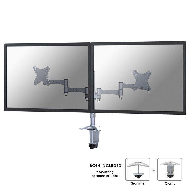 Ver Newstar FPMA D1330DSILVER soporte de mesa para pantalla plana