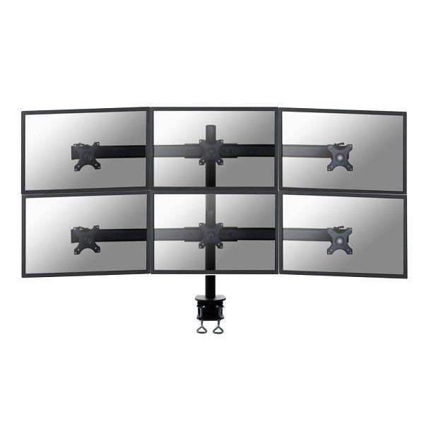 Newstar FPMA D700D6 Clamp Negro soporte de mesa para pantalla plana