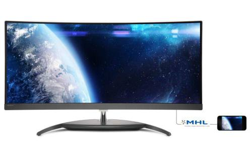 Ver Philips Brilliance Pantalla LCD Curved UltraWide