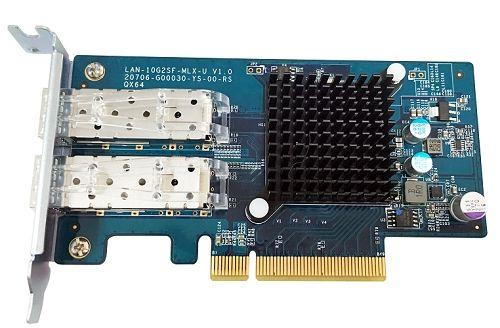 Ver QNAP LAN 10G2SF MLX Interno Fibra adaptador y tarjeta de red