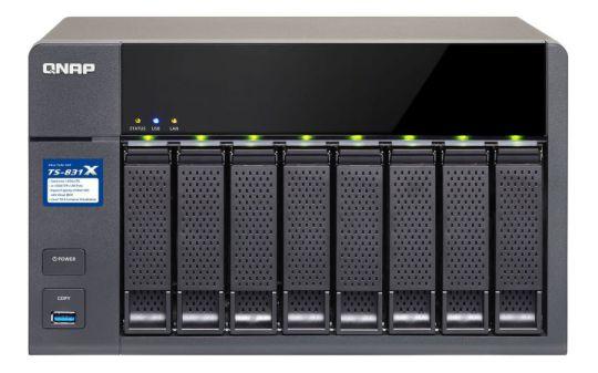 QNAP TS 831X NAS Ethernet Negro