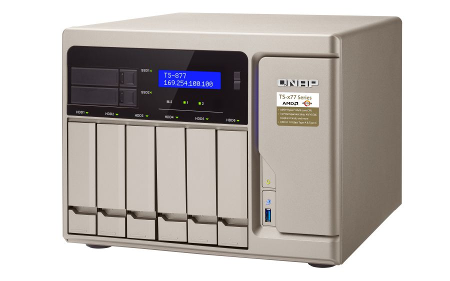 QNAP TS 877 NAS Torre Ethernet Oro
