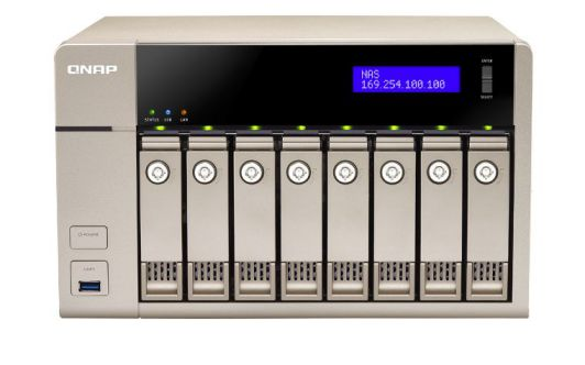 QNAP TVS 863 NAS Torre Ethernet Oro