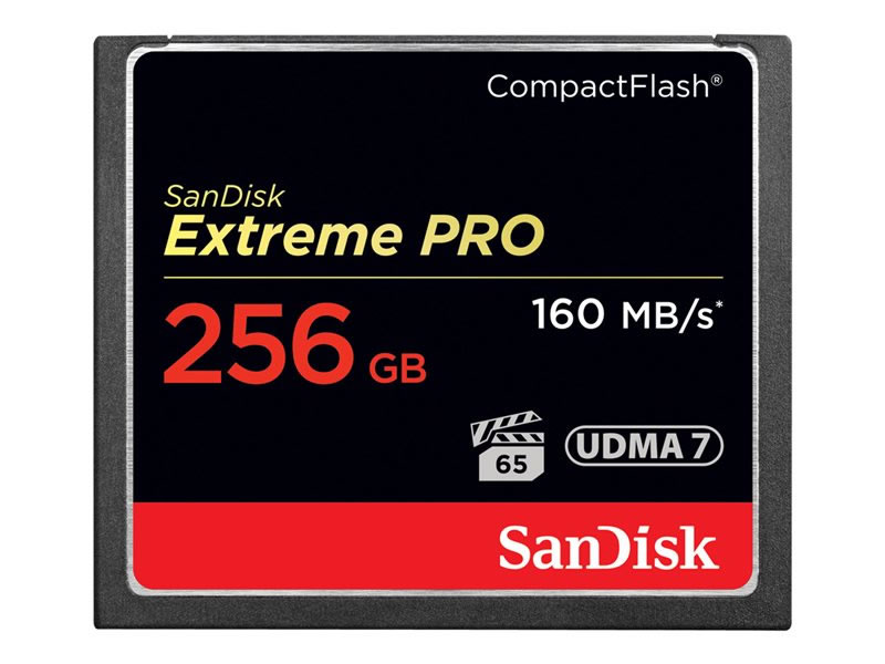 Ver SanDisk Extreme Pro 256 GB COMPACT FLASH