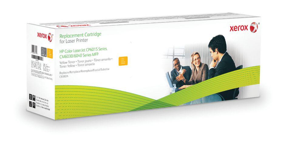 Xerox Cartucho de toner amarillo Equivalente a HP CB382A Compatible con HP Colour LaserJet CM6030 MFP Colour LaserJet CP6015