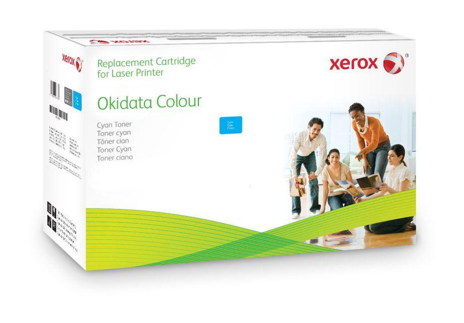 Xerox Cartucho de toner cian Equivalente a Oki 43872307 Compatible con Oki OKI C5650 OKI C5750