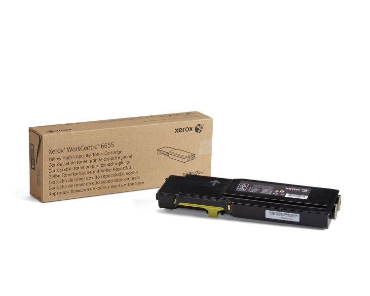 Xerox WorkCentre 6655 cartucho de toner amarillo de gran capacidad 7500 paginas