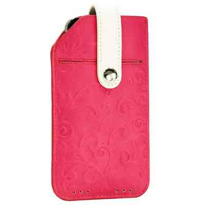 Funda Cuero Tac Iphone 44s5 Sway Rosa