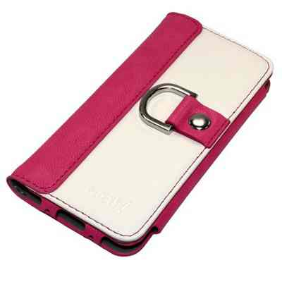 Funda Tac Iphone 5 Diary Card Slot Blanc