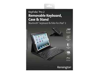 Kensington Keyfolio Pro 2 Removable Keyboard Case Stand