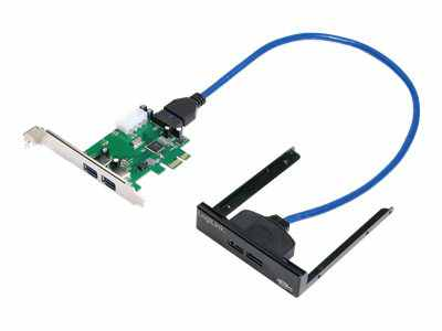 Logilink Pci Express Interface Card 2x Usb 3 0  2x Usb Front Logilink