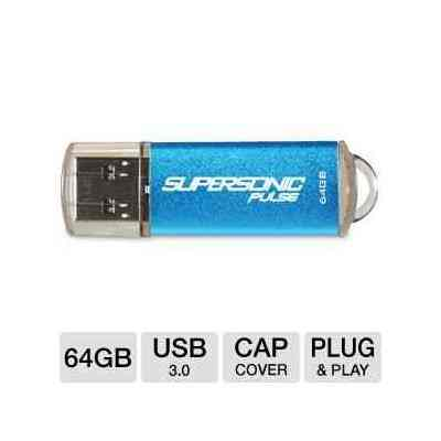 Men Patriot Supersonic Pulse 64gb Usb 3