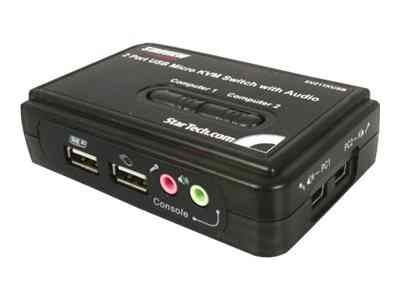 Startech Com 2 Port Usb Vga Kvm Switch With Audio And Cables
