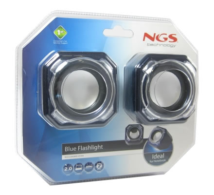 Ngs Flashlight Altavoces 20 Portatiles 4w Azul