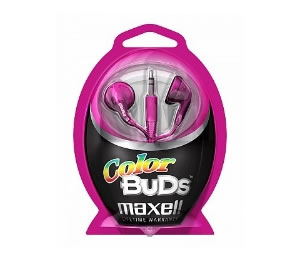 Auriculares Color Bud Maxell Rosa