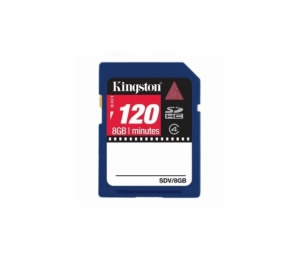 Tarjeta Memoria Secure Digital 8gb Sd Hc Especial Video Kingston