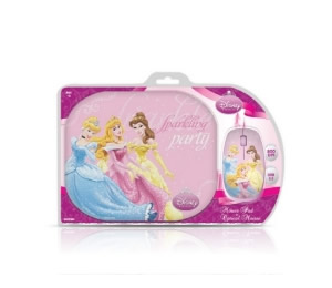 Two Pack Disney Princesas Mouse Optico Usb   Alfombrilla